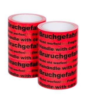 Fragile! Handle with care! Bruchgefahr! Nicht werfen! Hotmelt adhesive tape 60m