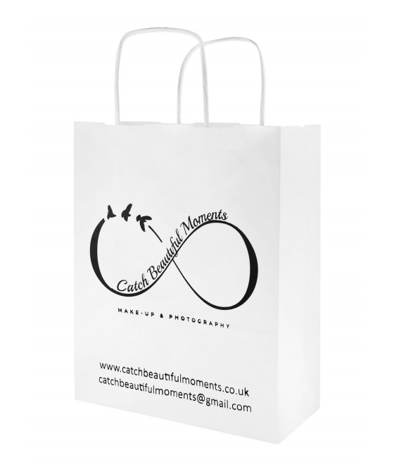 PAPER BAG 180x80x225mm TWISTED HANDLE PRINTED